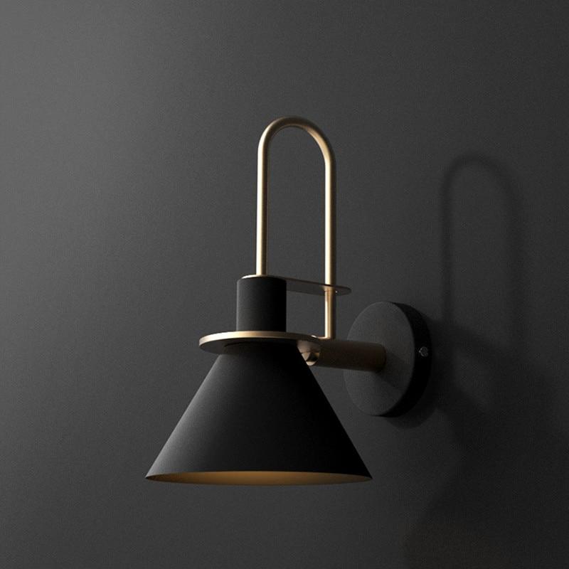 Nordic Loft Bedside Led Wall Lamp Creative Art Horn Design Coffee Shop Bathroom Decoration Wall Sconce Lighting Fixtures