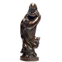 Shengwei craft African ebony wood Bodhidharma statue of King upscale Decoration 45CM