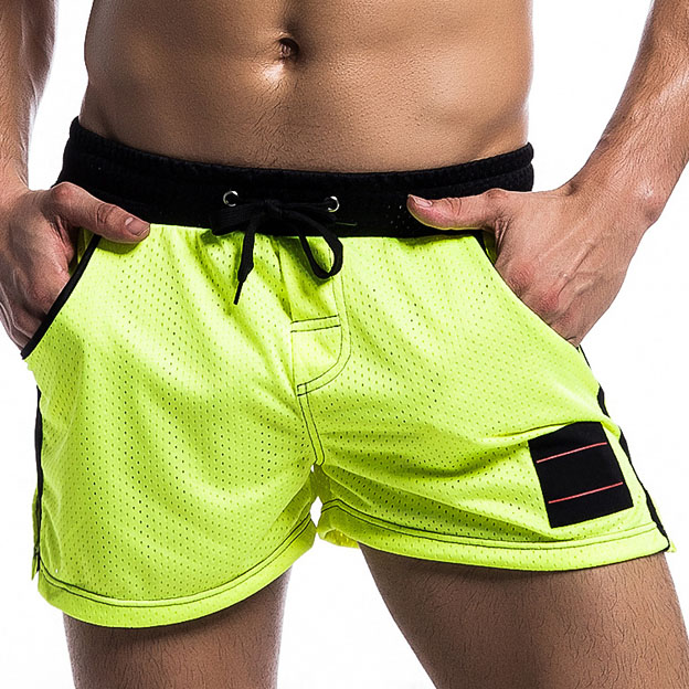 Quick Dry Mesh Breathable Mens Board Shorts  Beach Trunks Men Bodybuilding Shorts Slim Fashion Male Short Homme