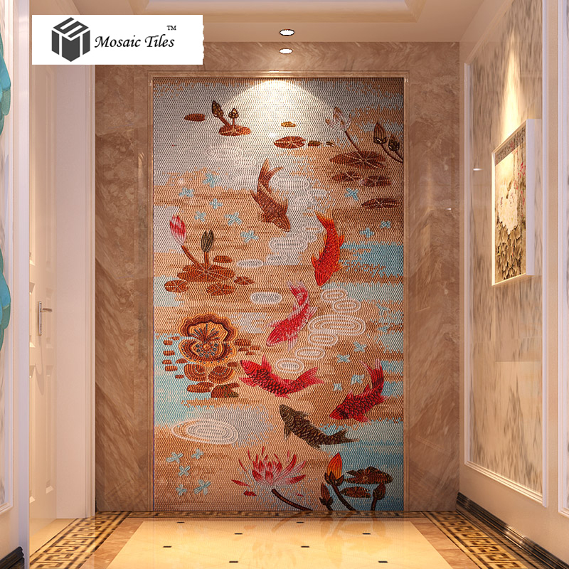 Mosaico Murales De Pared Decorativos Baldosas De Vidrio