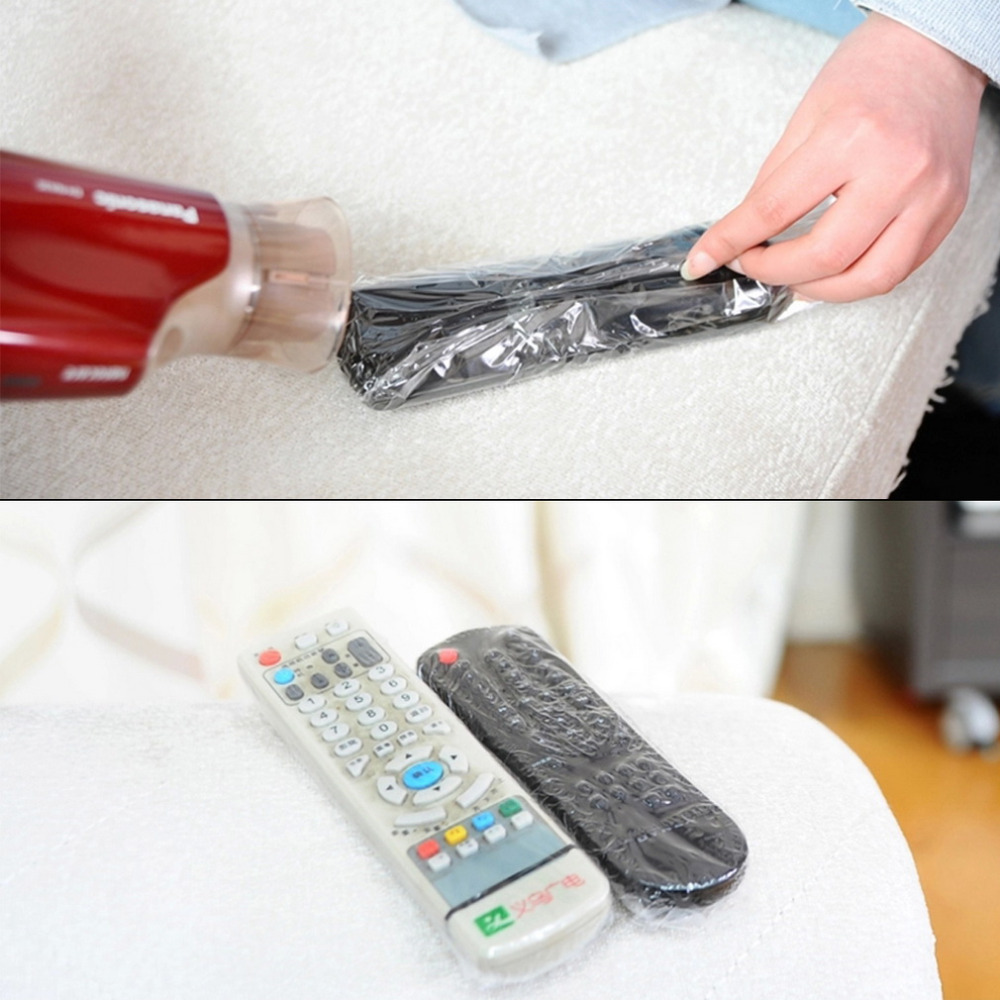 5 pcs Heat Shrink Film TV Air Conditioner Video Remote Control Protector Cover hot selling in Storage Bags from Home Garden