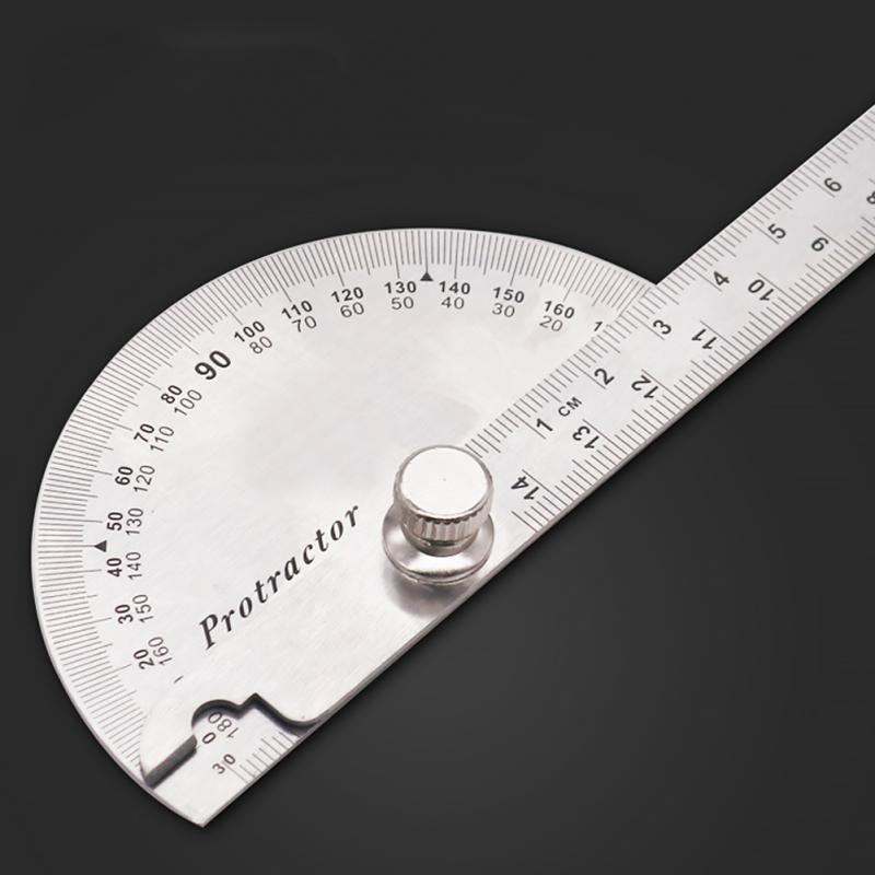 New 180 Degree Practical Protractor Angle Finder Craftsman Ruler Stainless Steel Caliper Measuring Angle Ruler 14.5cm