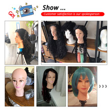 Bald Mannequin Head With Clamp Female Mannequin Head For Wig Making Hat Display Cosmetology Manikin Head For Makeup Practice