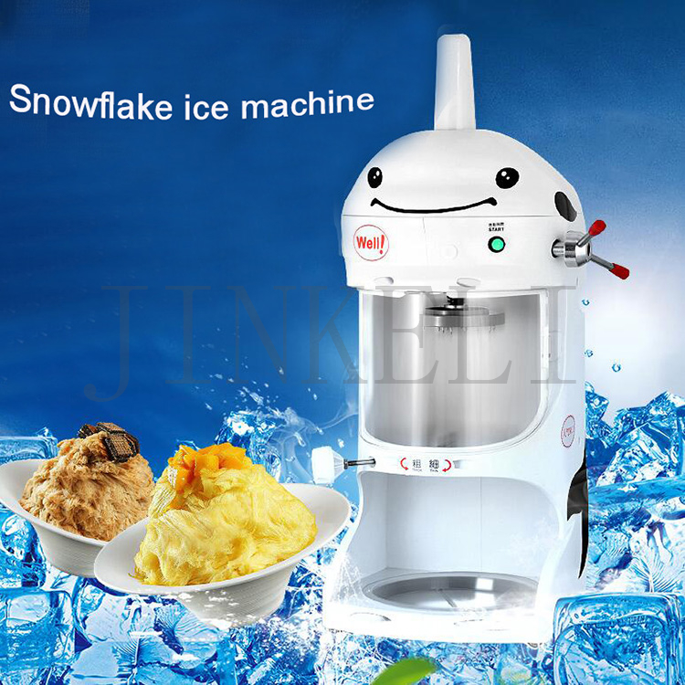 Free shipping 90kg/h Commercial ice machine continuous electric snowflake crusher shaved Continuous ice machine Ice Crushers hand driven ice crusher commercial and home use crushed ice machine zf