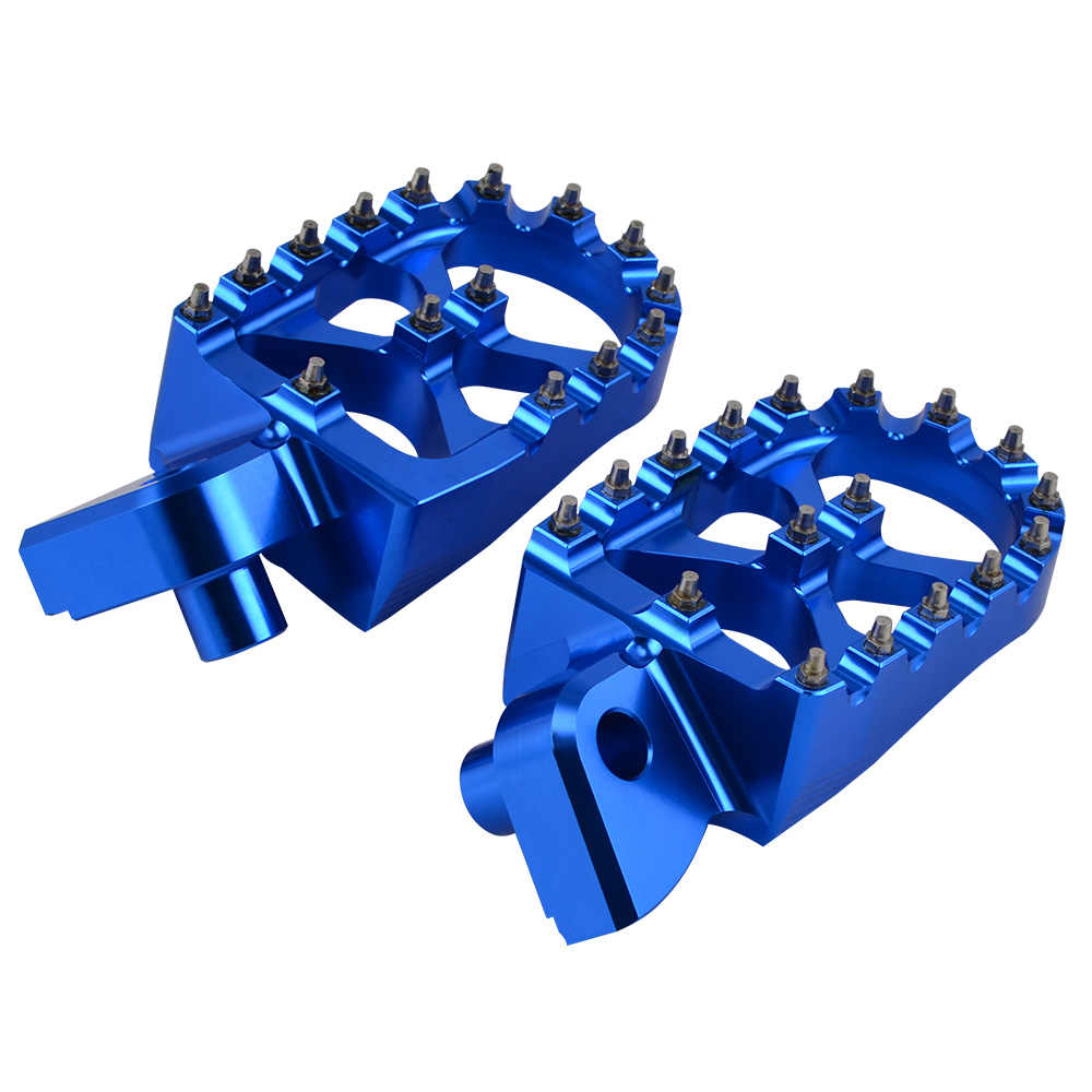 Motorcycle Billet MX Wide Foot Pegs Pedals Rest Footpegs For KTM SX SXF EXC EXCF XC XCF XCW XCFW SMC 65 85 125 150 200 250-530 Color : Blue