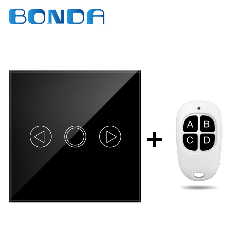 BANDU EU standard type 86 touch switch home intelligent dimmable switch remote control switch smart hotel universal wall switch 86 type one touch switch intelligent home wireless radio frequency remote control wall switch