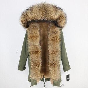 Image 5 - OFTBUY 2020 uzun Parka gerçek doğal rakun kürk ceket kış ceket kadınlar Streetwear giyim kalın sıcak rahat büyük kürk yaka