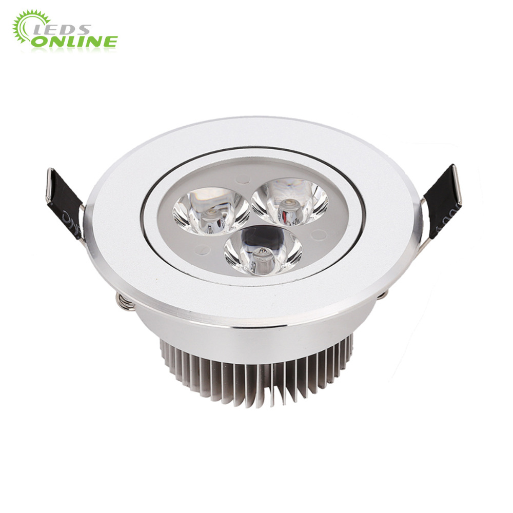 10pcs/lot 9w 12w 15w cool white warm white dimmable LED Recessed Downlight AC110V 220V  for home bathroom kitch store lights