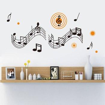Pegatina de pared de fondo de arte de salón de música Para ...