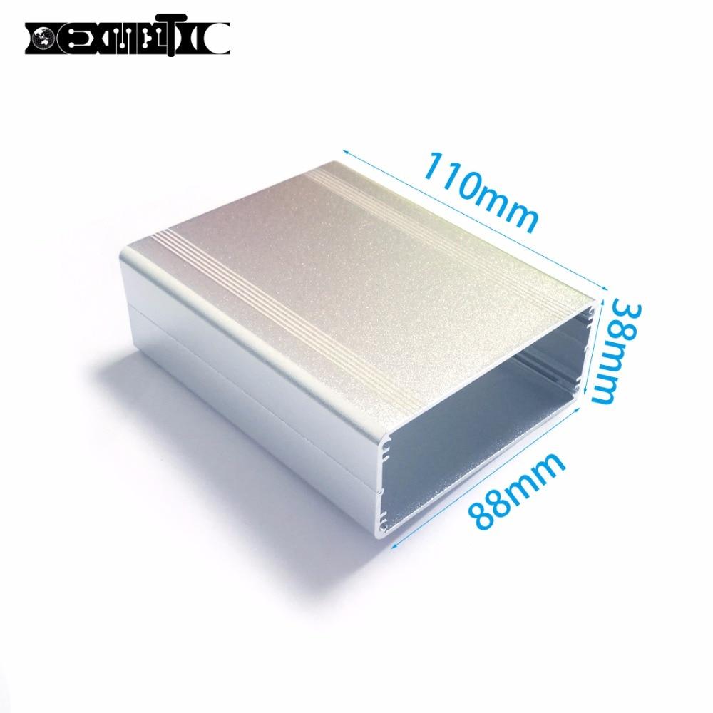 Aluminum enclosure electric project case PCB shell box 88x38x110mm DIY splitted electronics enclosure