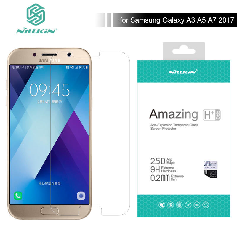 For Samsung Galaxy A3 A5 A7 2017 A320F A520F A720F Nillkin H+ Pro Anti-Explose Tempered Glass Screen Protector 2.5D 0.2mm Glass