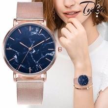 Vansvar Brand Creative Marble Casual Quartz Watches Best Gift Women