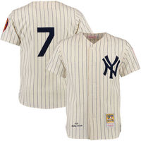 Mens New York Yankees Mickey Mantle Cream MLB Authentic Jersey