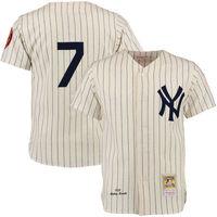 Mens New York Yankees Mickey Mantle Cream MLB Authentic Jersey