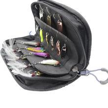 Сумка для рыбалки, водонепроницаемая, переносная, нейлоновая, с блестками, рыболовные приманки, крючки, снасти, сумка для хранения, чехол, органайзер, контейнер 15*10*4 см