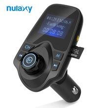 Nulaxy fm-передатчик аудио Автомобильный MP3-плеер fm-модулятор автомобильный комплект громкой связи с ЖК-дисплей Дисплей и 5 В 2.1A USB Автомобильное Зарядное устройство
