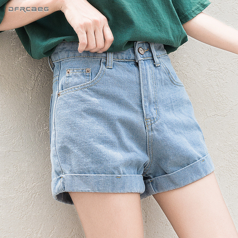 High Waist Vintage Slim Denim   Shorts   Women 2019 Summer New Fashion Elastic Casual Crimping Plus Size   Short   Jeans Female