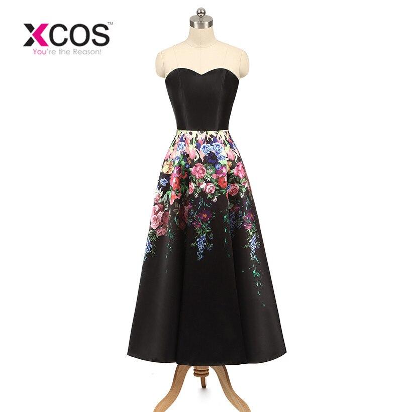 XCOS Prom Dresses Vestido Festa Elegant Short Prom Dress Real Picture Custom Made Cheap A-line Short Prom Dresses