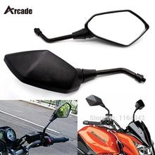 Arcade Pair Black Custom Motorcycle Mirror Racing Rearview Mirrors For Kawasaki Honda Suzuki Yamaha BMW Ducati