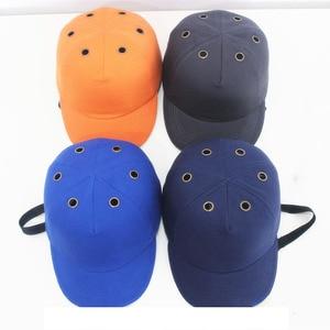 Image 2 - Yumru şapka Çalışma emniyet kaskı ABS Iç kabuk beyzbol şapkası Tarzı Koruyucu Sert Şapka Iş Giysisi Kafa Koruma Top 6 Delikli
