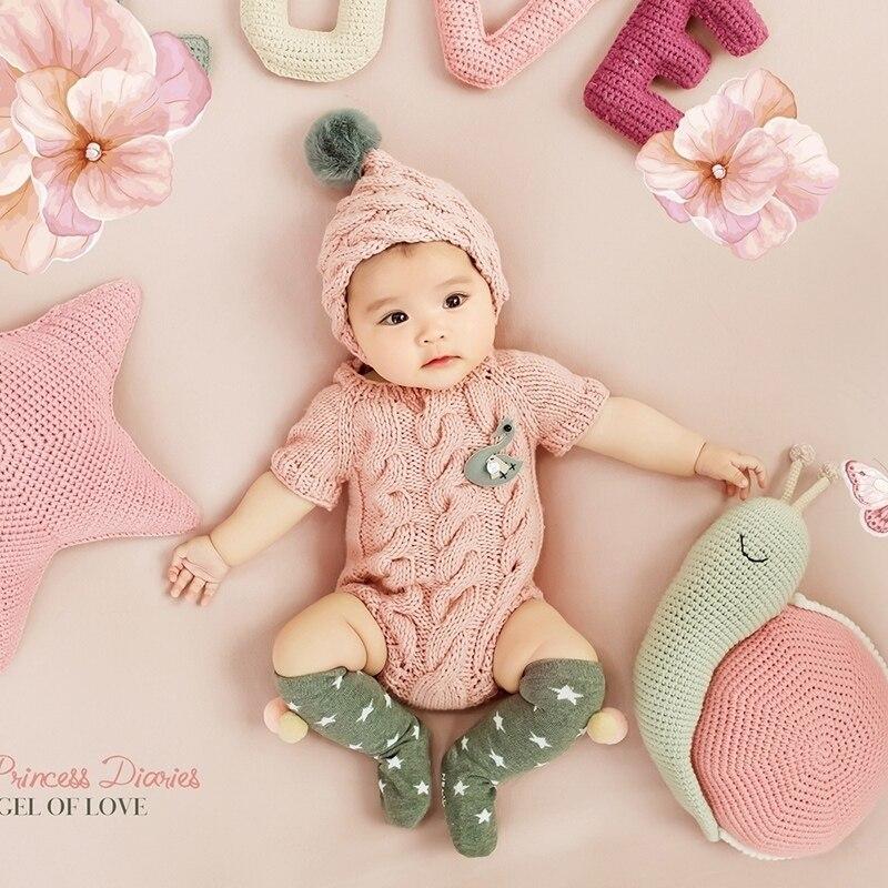 Newborn Baby Girl Boy Crochet Knit Costume Photo Wrap Blanket Rug Prop Outfits