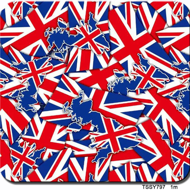 1m wide hydrographic England flag film