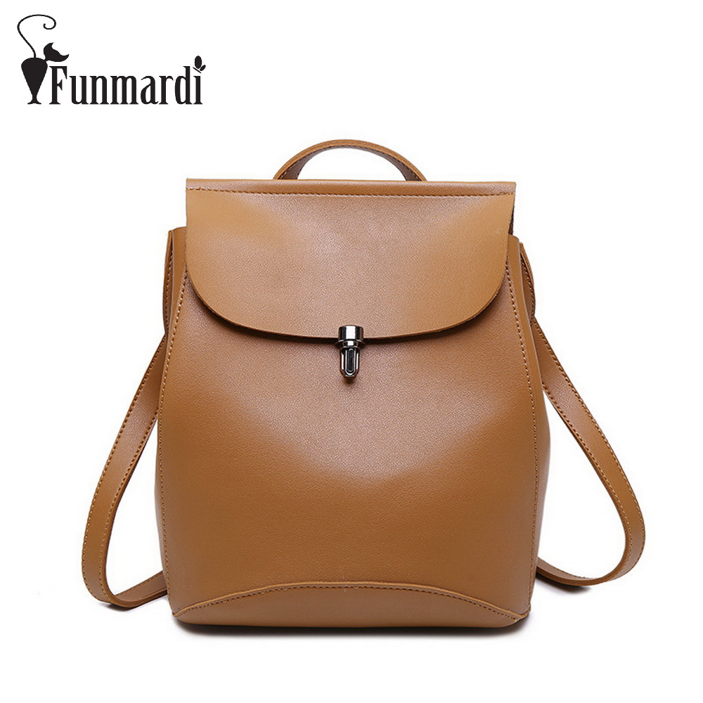 Fashion Preppy style PU leather backpacks Multi function women s bag fashion leather shoulder bag Trendy