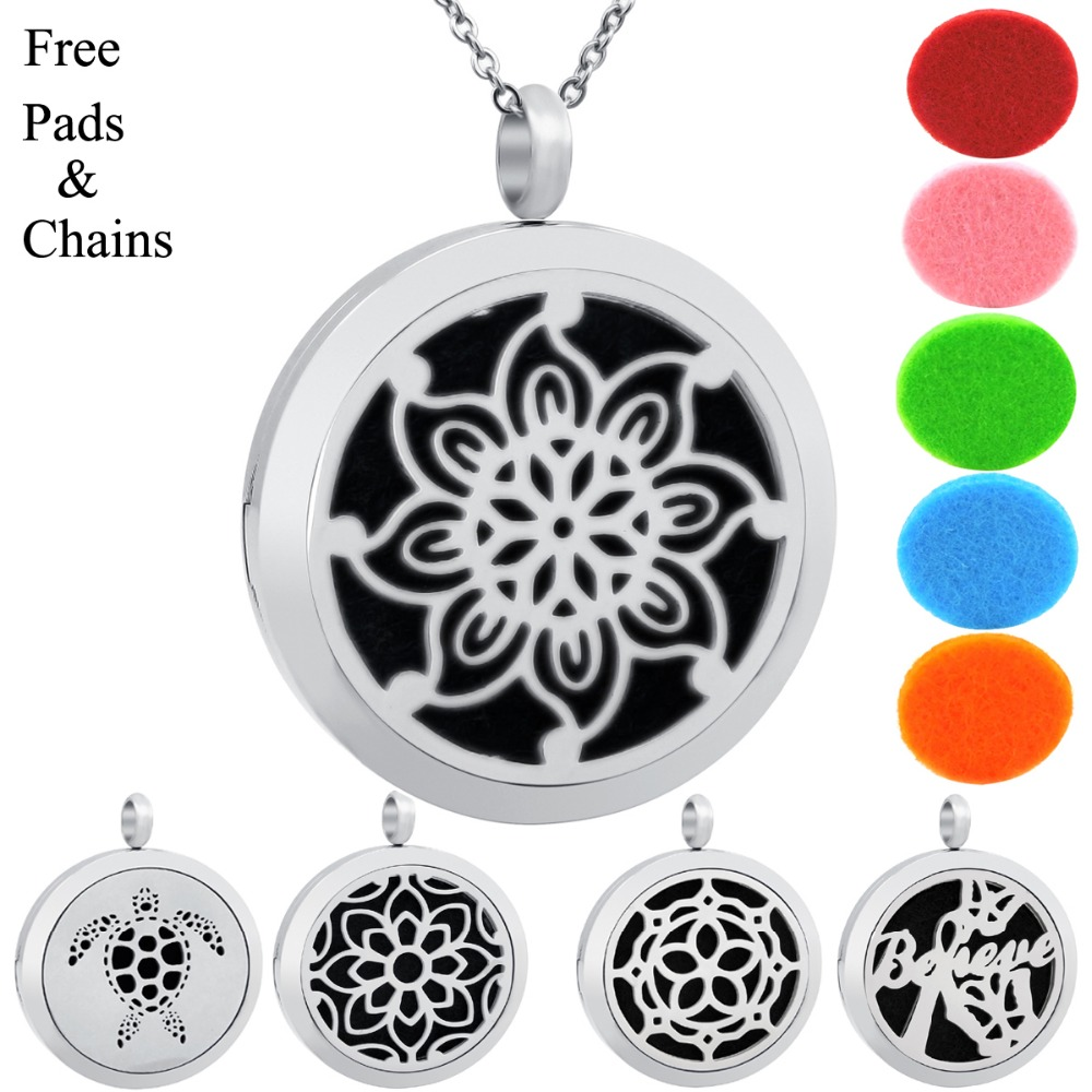 Chain Free Tree 30mm essential oil diffuser necklace jewellery aromatherapy wome