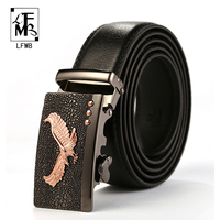 LFMB Men Belt 2017 Luxury Brand Leather Belt For Men Genuine Leather Belt Casual Strap