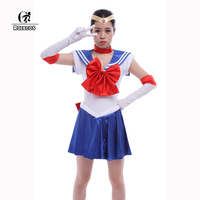 Rolecos真新しいアニメ美少女戦士セーラームーン女性コスプレ衣装色赤カスタムメイド女