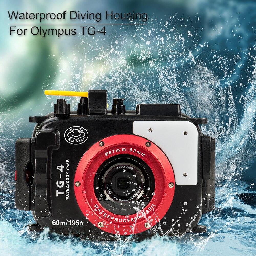 For Olympus TG4 Camera Underwater Housing Case Waterproof Diving Bag Shooting PC Equipment water resistance box (2)