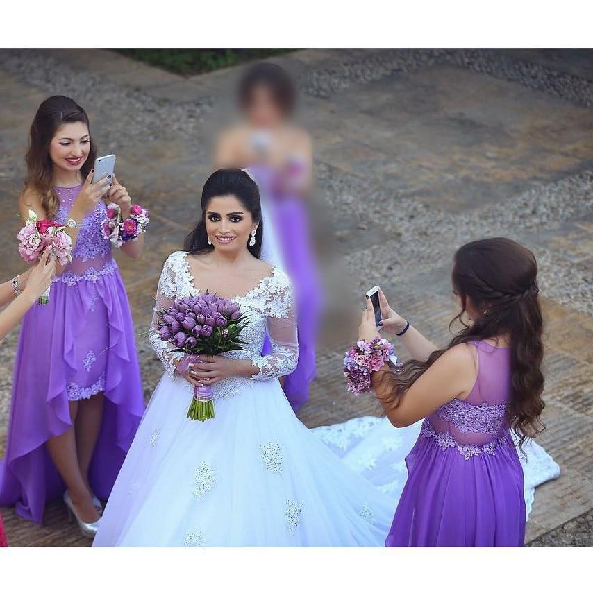 Chiffon Purple  Wedding Party Guest Dress Woman Plus Size Bridesmaid Dresses