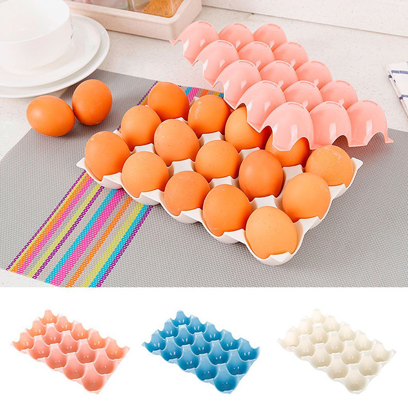 1pc Kitchen Egg Storage Box Container Hiking Outdoor Camping Carrier Crisper For 15 Egg Case Box JSX GHMY