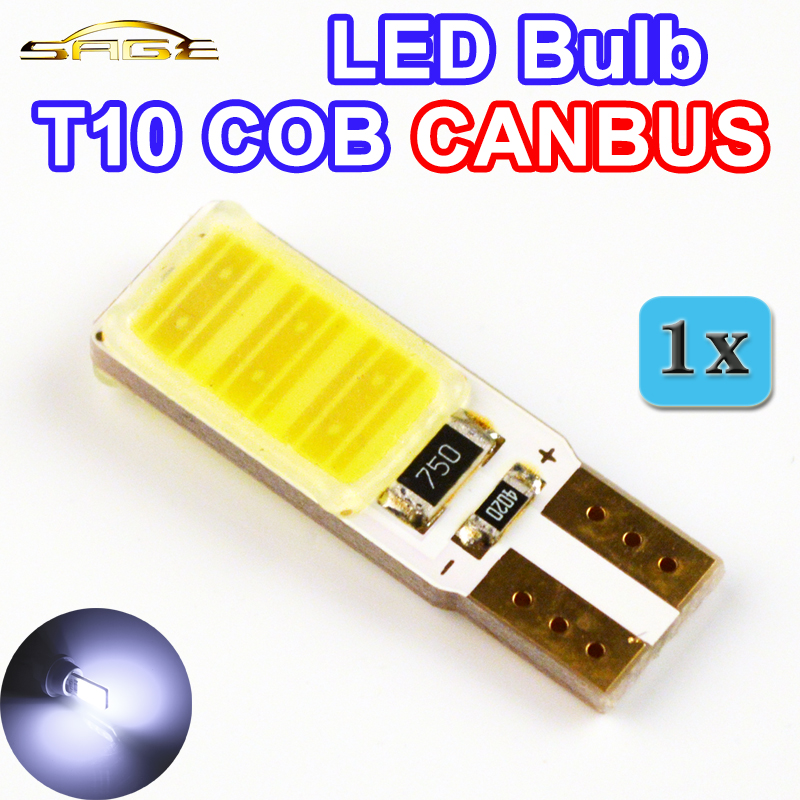 flytop 12V 5W T10 COB CANBUS 194 W5W LED Bulb Super Bright Error Free Car Light Automotive No Errors CAN BUS Lamp White Color 10pcs super bright led lamp t10 w5w 194 6smd 4014 error free canbus interior bulb white for car dc 12v free shipping new