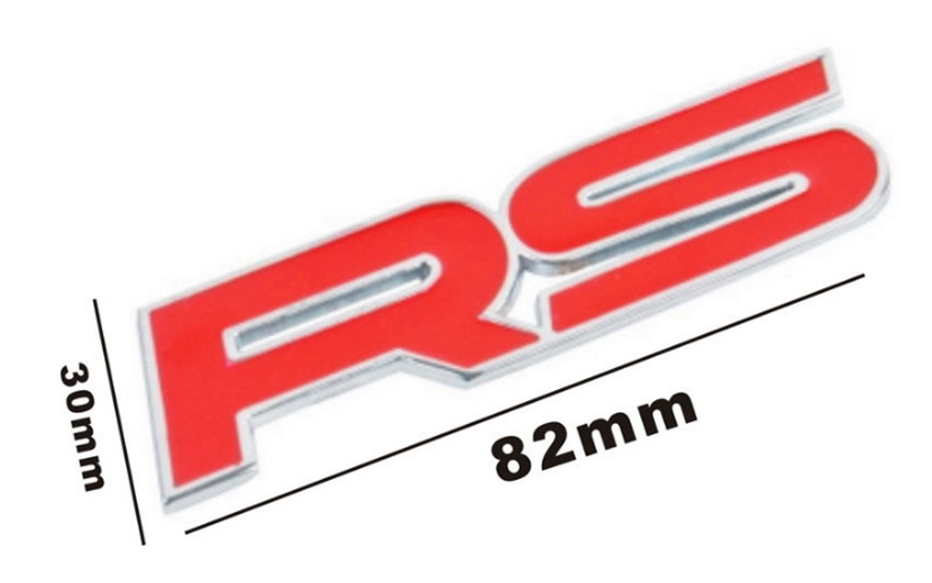 Metal RS Emblem Badge Decal Sticker For Chevrolet Kia Rio Skoda Ford Focus