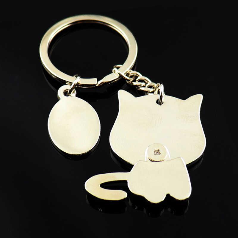 LLavero de gato lindo llavero para mujer gatito llavero de alta calidad portachiavi llaveros chaveiro bolso encanto