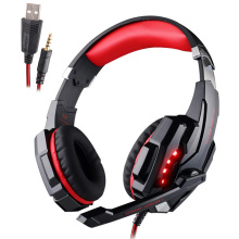 купить KOTION EACH G9000 Gaming headphones Deep Bass Stereo Headset Computer Game with mic microphone LED Light PC professional Gamer дешево