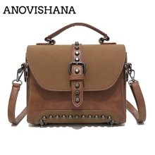 ANOVISHANA 2019 New Fashion Women Single-shoulder Bag Frosted Bag Stitching Tide Version Autumn And Winter Crossbody HandbagK055