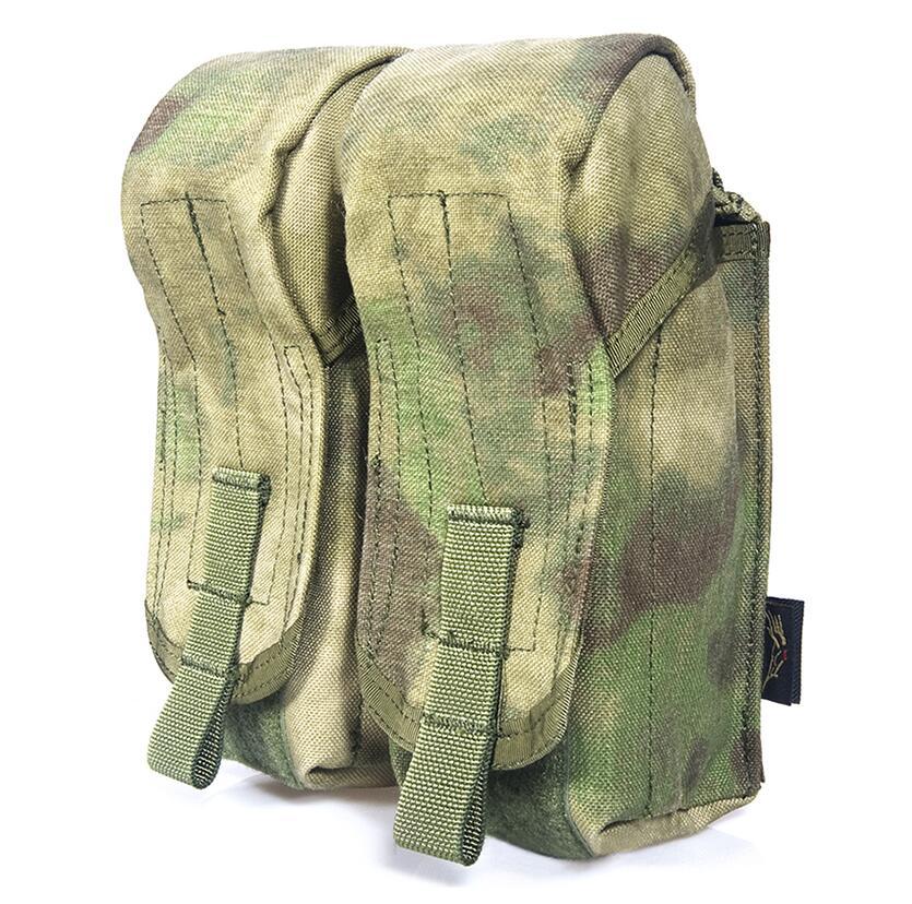 FLYYE MOLLE Dual AK Magazine Pouches Military camping modular combat CORDURA M007