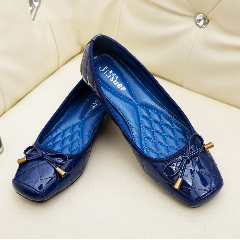 New Arrival Patent Leather Flat Women Bas