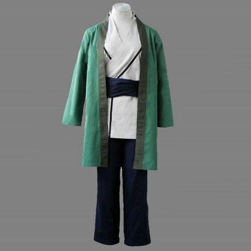 Naruto Anime vert Ninja Tsunade Halloween Cosplay Costume Kimono manteau + Kimono gilet + pantalon + ceinture