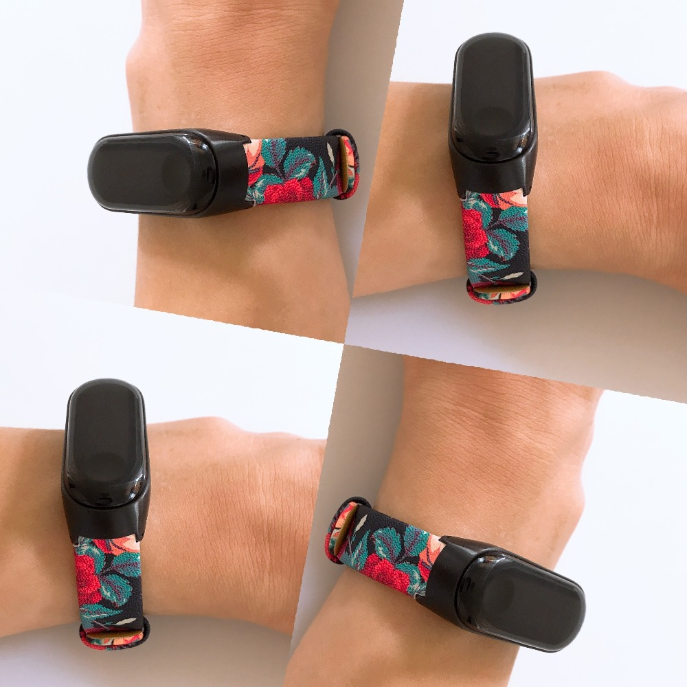 Flower Strap For Mi Band 4 Strap Leather Bracelet For Mi Band 3 Strap Miband 4 3 Wristband Genuine Leather Band Wrist Strap