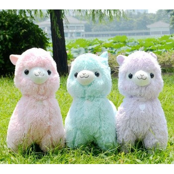 45cm Japanese Alpacasso Soft Toys Doll Giant Stuffed <font><b>Animals</b></font> Toy 5 <font><b>Colors</b></font> Kawaii Alpaca Plush Kids Christmas Gift