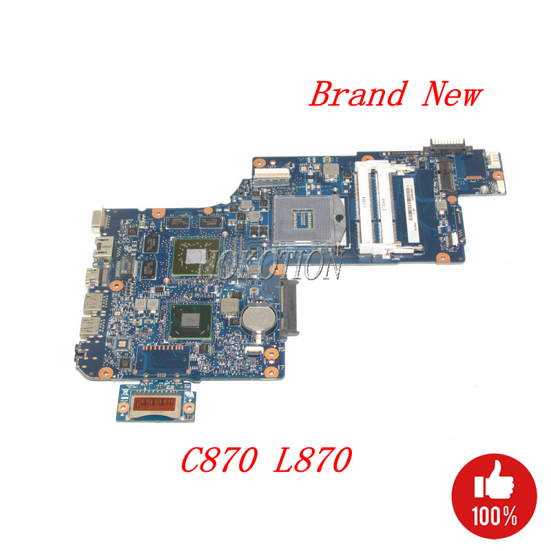 NOKOTION Brand New MAIN BOARD For Toshiba Satellite C870 L870 Laptop Motherboard H000043490 HM76 DDR3 HD7610M