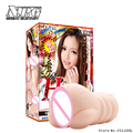 Japão npg anri kizuki atriz av dupla camada reutilizável, silicone realista vagina bolso buceta masculino masturbador sex toy para homens
