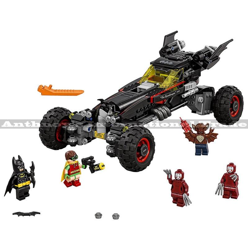 Лепин 07045 Super Heroes Бэтмен Бэтмобиль здания Конструкторы подарок Игрушечные лошадки для детей Бела Decool 70905 559 шт.