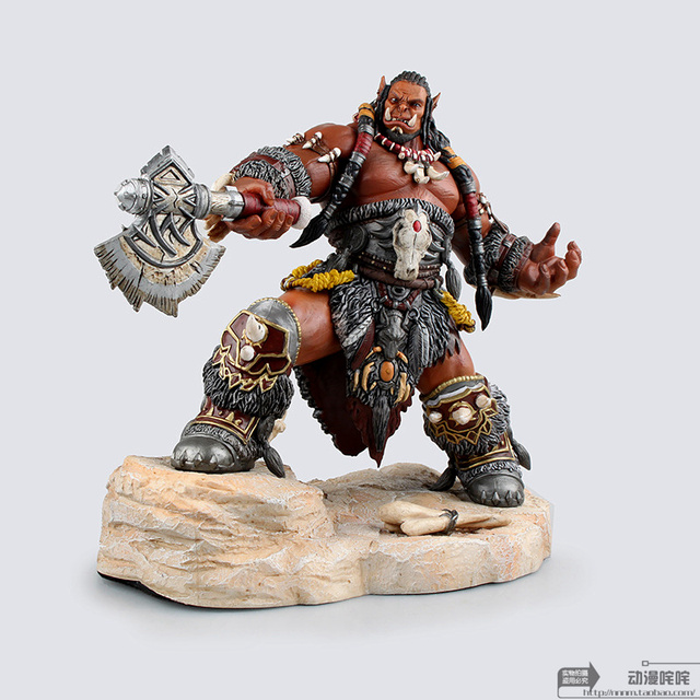 22cm WOW Durotan Guldan Frostwolf Clan Cacique Action Figure Toys Game Collection Model kids Doll gift