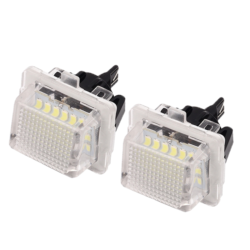MALUOKASA 2Pcs 18 LED Number License Plate Light Lamp For Mercedes Benz W204 W212 C207 C216 W221 S204  Automobile Tail Light car led license plate lights for mercedes w220 s class 99 05 benz accessories smd3528 led number plate lamp bulb kit 12v
