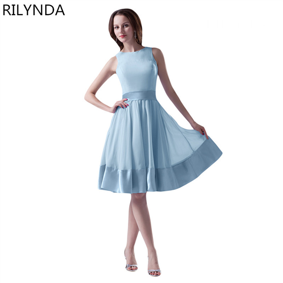 Bridesmaid Dresses Cheap Party Dress Formal O Neck Coral Peach sky ...