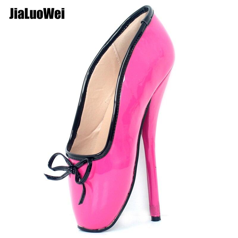 087fbd316013 New 18cm high heel ballet shoes Sexy Fetish Women Pumps Plus Size 36-46  white